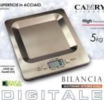 Bilancia da Cucina Digitale in Acciaio Inox kg 5