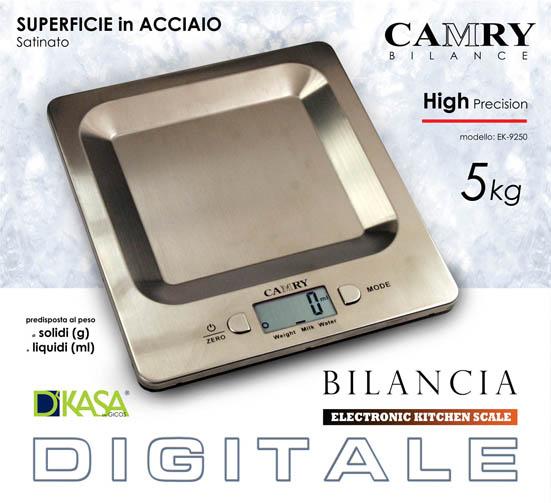 Bilancia da cucina digitale in acciaio inox kg 5 pratiko - Silvercrest bilancia digitale da cucina ...