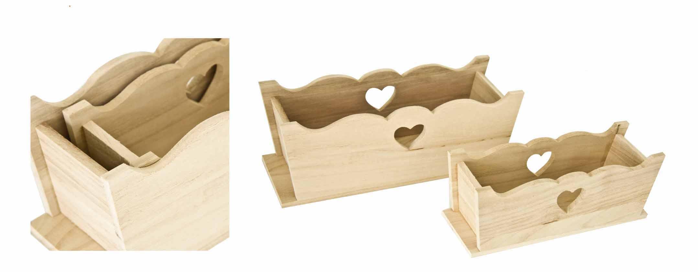 Cassette legno 2 pz con cuore pratiko store - Mobiletti in legno ...