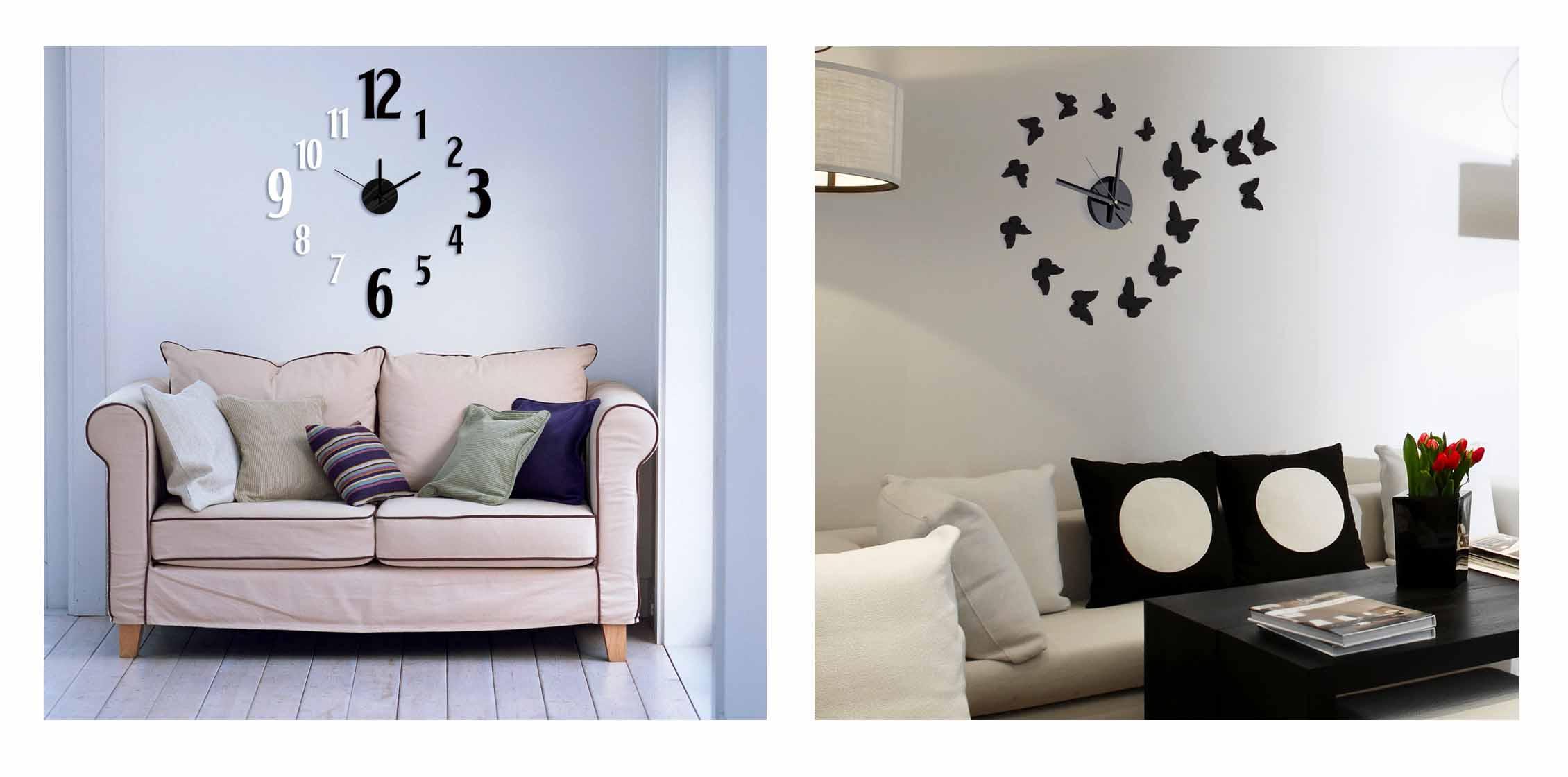Orologio da parete dibys con stickers pratiko store - Orologi componibili da parete ...