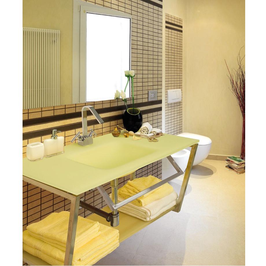 Bagno giallo beautiful bagno giallo bagno moderno in - Vernici per piastrelle bagno prezzi ...
