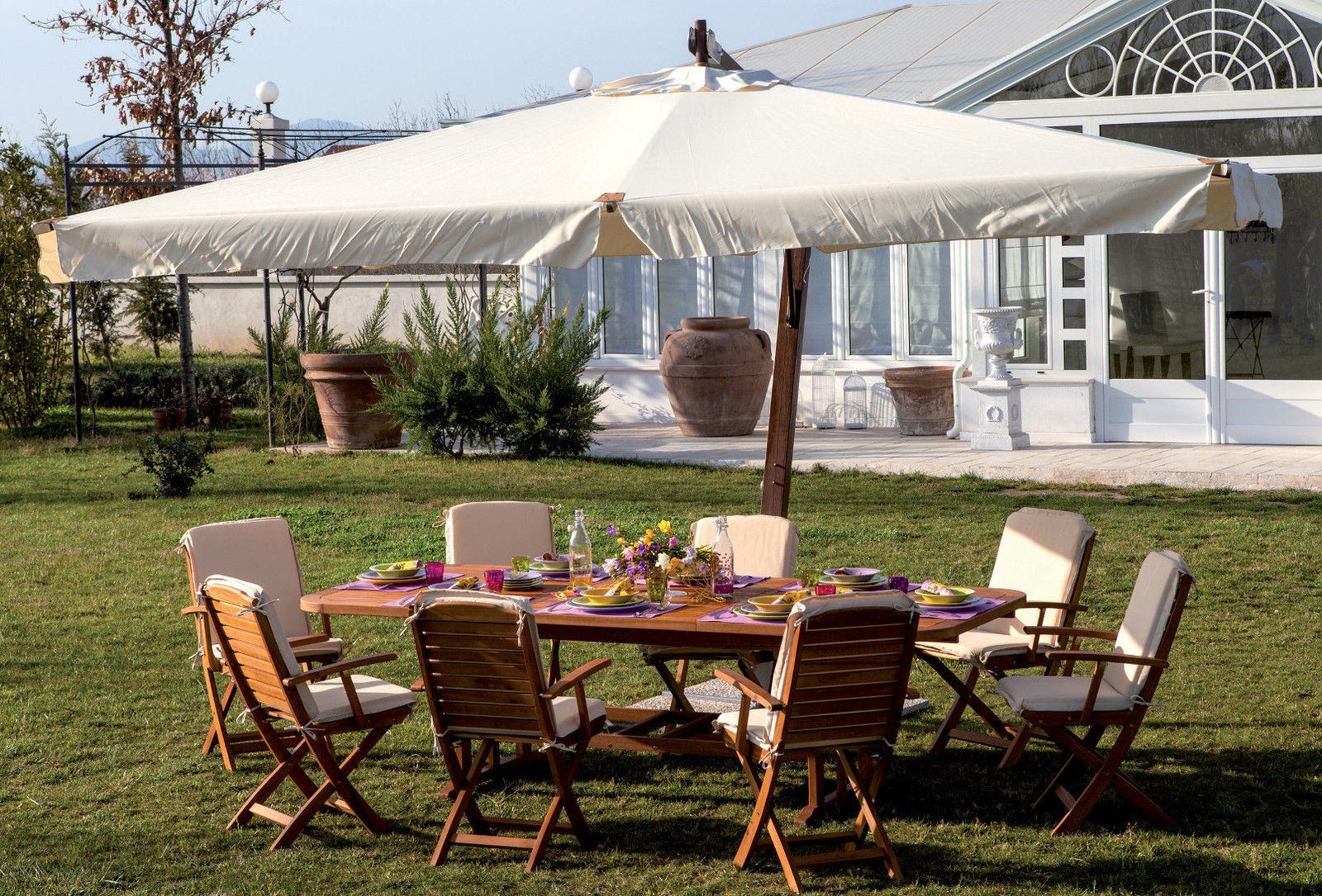 Ombrellone decentrato aster lusso pratiko store for Arredo terrazza giardino offerte