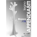 Appendiabito Albero Bianco a Pavimento