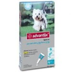 Antiparassitario Advantix per cani da 4 a 10 kg.
