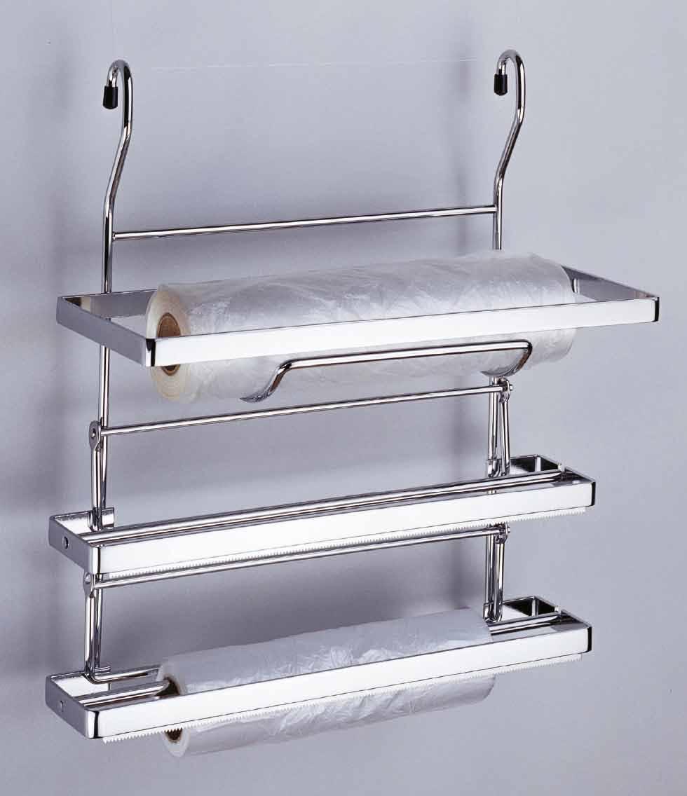 Porta rotolo a 3 piani bizzotto pratiko store for Piani per la cucina