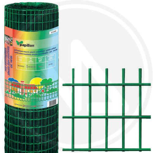 Pratiko storerete elettrosaldata zincata plastificata in for Rete recinzione bricoman