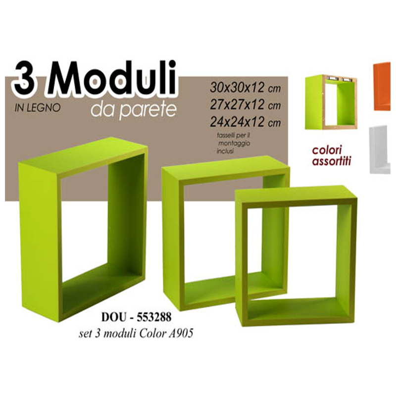 Mensole modulari da parete pratiko store for Cubi mensole