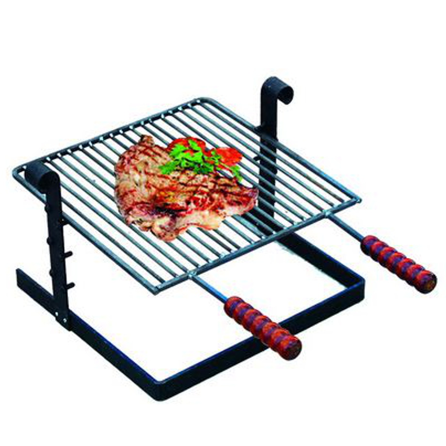 Griglia per barbecue in ferro battuto pratiko store for Griglia per barbecue bricoman