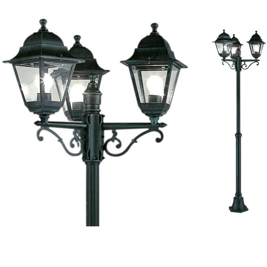 Lampione da giardino charme 3 luci pratiko store - Luci per giardino ...