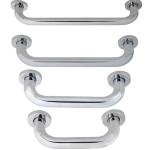 maniglione di sostegno per bagno in acciaio inox diritto
