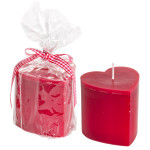 candela profumata cuore rosso