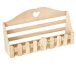 Mensola in legno Heart