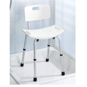 Sgabello con schienale per doccia
