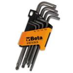 Serie di 8 chiavi Maschio piegate Torx Beta