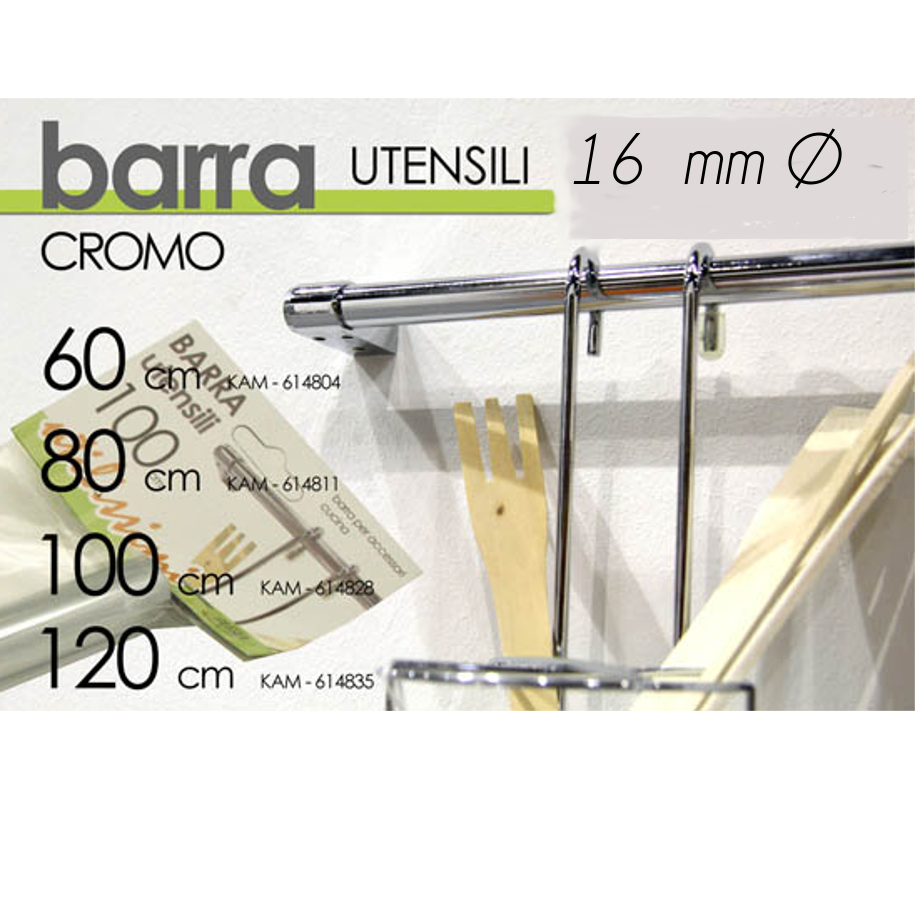 Barra portautensili cucina inox pratiko store - Barra portautensili cucina ...
